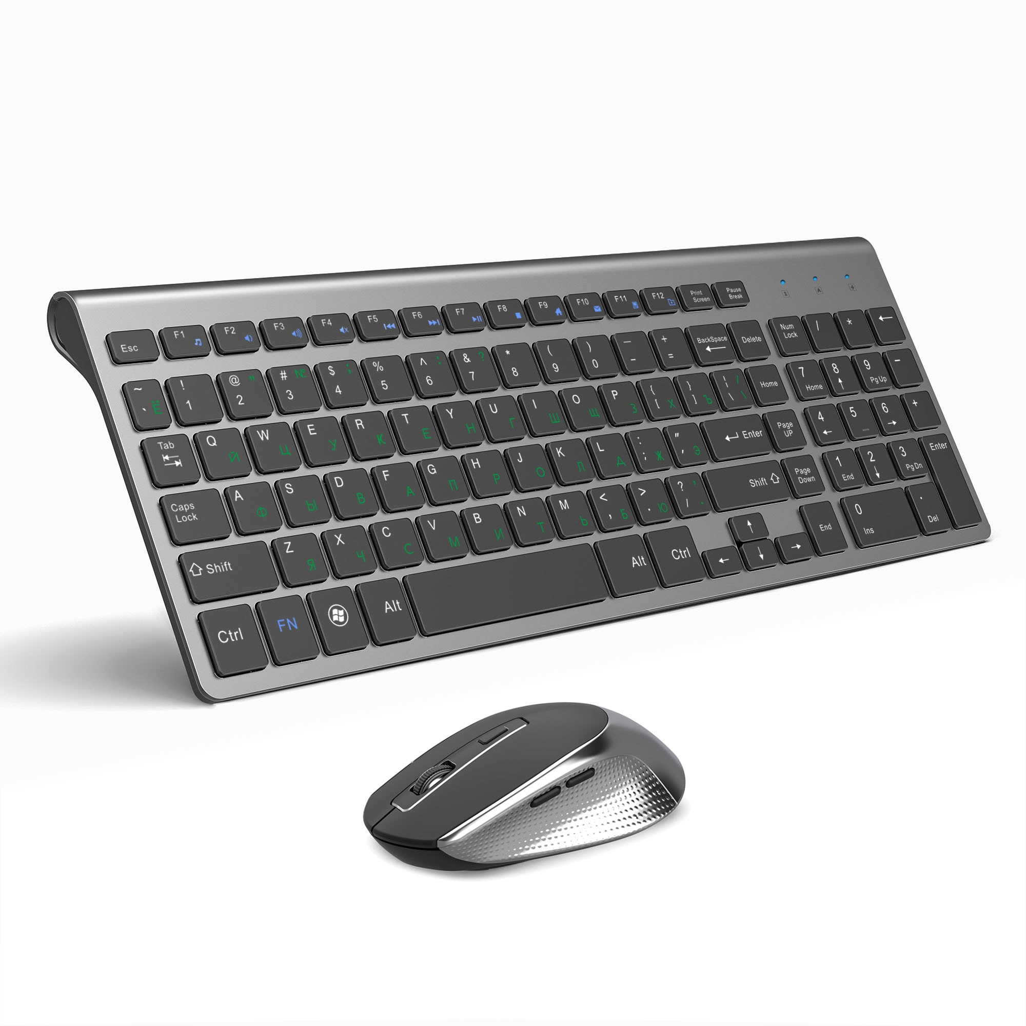 JOYACCESS الروسية اللاسلكية لوحة المفاتيح الماوس مجموعة فأرة مريحة الكمبيوتر Mause الصامت زر لوحة مفاتيح وماوس كومبو 2.4G لأجهزة الكمبيوتر المحمول