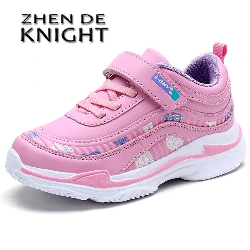 Детская спортивная обувь, кроссовки для девочек, розовая дышащая нескользящая обувь для детей, Размеры 26 37|Кроссовки| | АлиЭкспресс