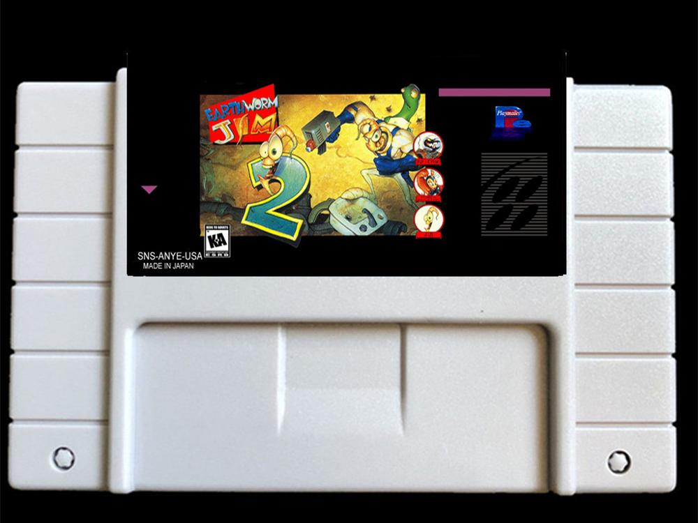 Earthworm Jim 2 USA- NTSC version  46 pins Video games card  NTSC version for Retro Video games Console !