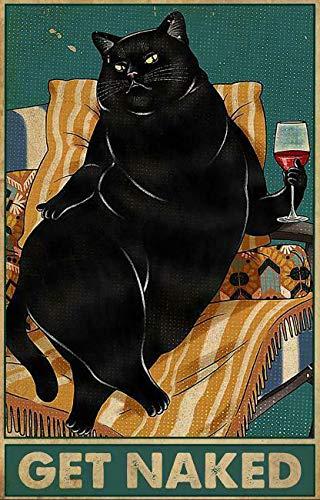 Плакат с кошкой, металлический жестяной знак, предупредительный Ретро, новинка, музыка, бар, гараж, стена ресторана, 8x12 дюймов