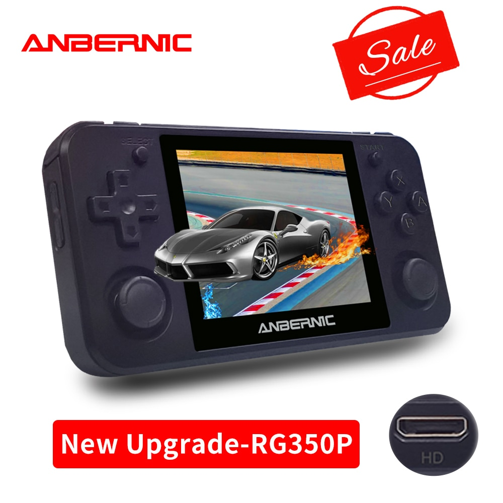 ANBERNIC RG350P Retro game Upgrade version 64Bit Emulator video game consoles handheld game players RG350P PS1 RG350 HDMI-compat