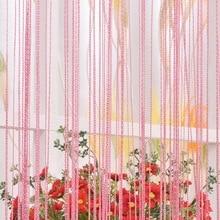 Nouveau Long gland chaîne chaîne porte rideau diviseur pure fenêtre rideau cantonnière décor à la maison fenêtre criblage livraison directe