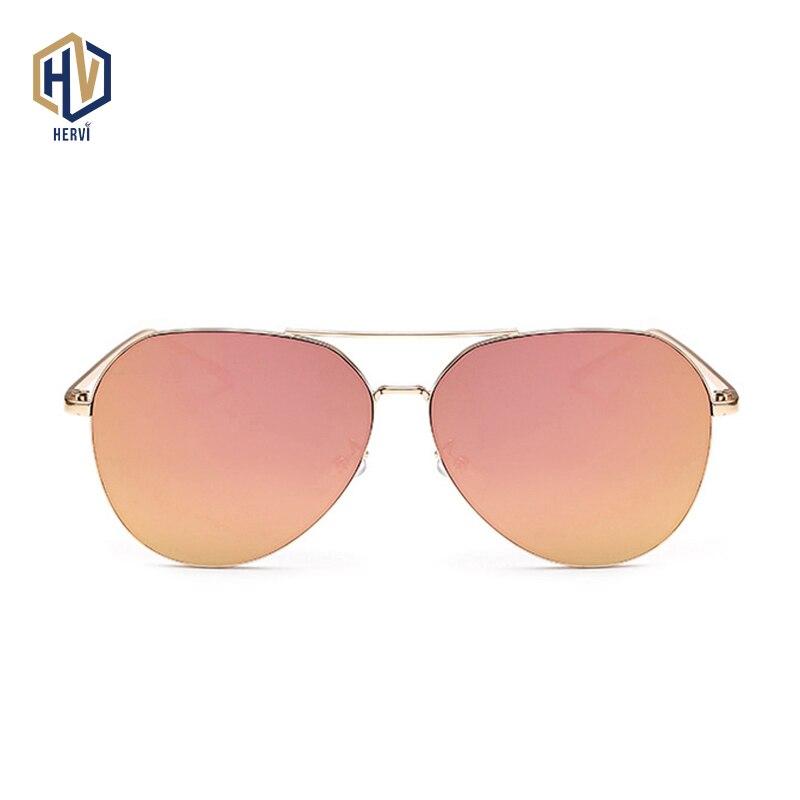 OFIR diseñador de marca de moda gafas de sol ovaladas de gran tamaño piloto mujeres hombres aviación marco de Metal espejo gafas de sol de conducción Mujer
