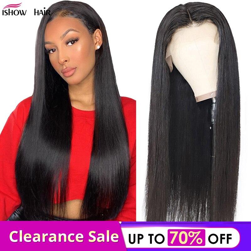Cabello Ishow cabello lacio brasileño 3 mechones venta 100% extensiones de cabello humano recto Color Natural no Remy tejido de cabello