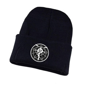 Anime Danganronpa Hat Fullmetal Alchemist Cosplay Hat Teenagers Winter Knitted Cap Unisex Print Adult Casual Cotton Hat
