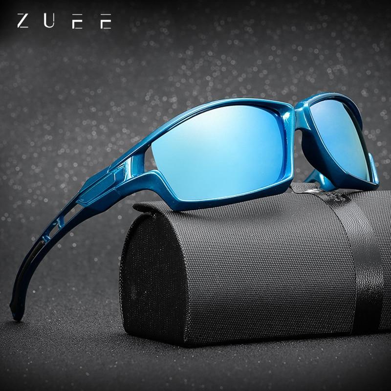 ZUEE New Polarized HD Lens Sunglasses For Men Driving Eyewears Mirror Sports Polarized Frame Sunglas