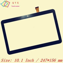 Black touch screen 10.1 Inch P/N ZY-1008 Capacitive touch screen panel repair replacement parts free