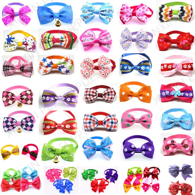 100pcs-mix-style-pet-dog-bow-ties-pet-necktie-popular-dog-bowtie-collar-pet-puppy-dog-ties-accessories-dog-grooming-supplies