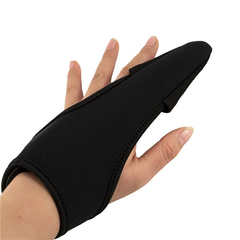 2PCS Profissional Anti-deslizamento Pesca Luva Single-Luvas de dedo Protetor de Dedo Indicador
