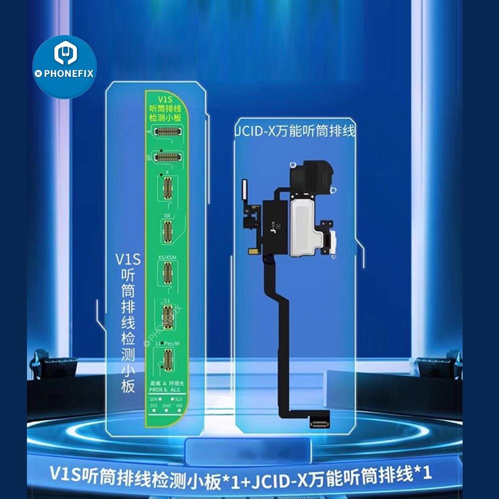Fone de Ouvido Placa de Detecção Sensor de Teste para Iphone Alto-falante Cabo Flexível Receptor Fpc 8-11promax Verdadeiro Tom Face id Reparo jc V1s