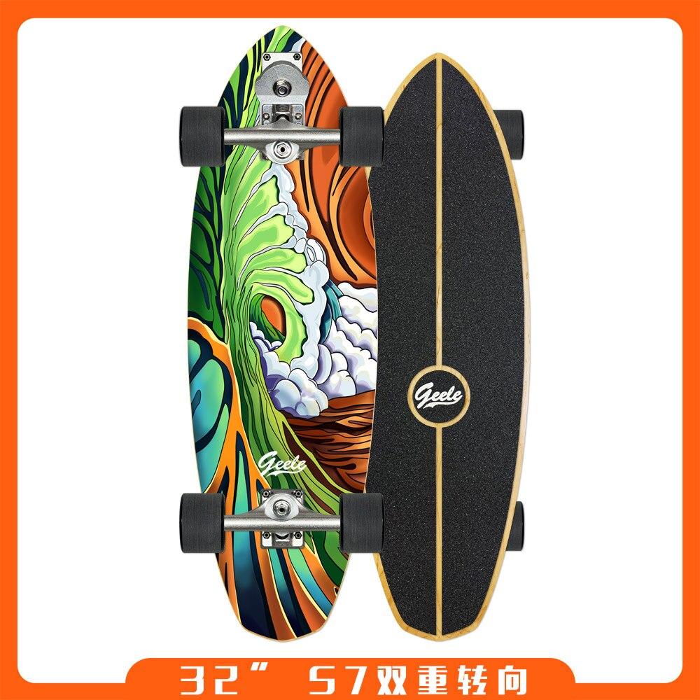 Профессиональный внедорожный скейтборд для подростков Land Surfboard скейтборд Trucks Thrasher Deskorolka аксессуары для скейтборда BI50SB
