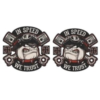 cool old school biker in speed we trust badge brand car sticker decal decor motorcycle off road laptop high quality waterproof