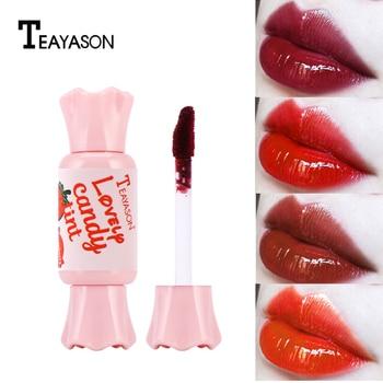 6 Colors Candy Shape Lip Gloss Lip Tint Matte Plumper Lip Gloss Liquid Matte Lipstick Waterproof Rouge Makeup TSLM2