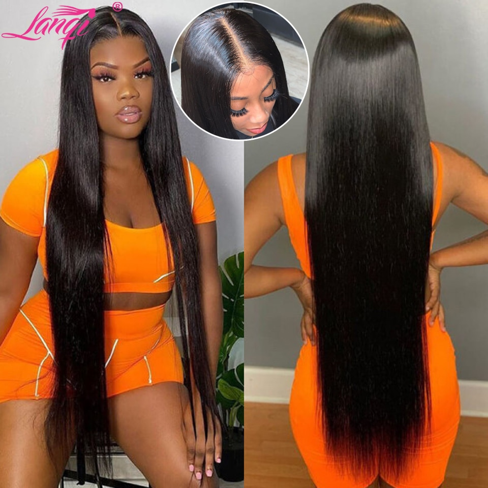 long wig 28 30 32 inch lace frontal wig straight lace front wig Brazilian lace front human hair wigs for women lace closure wig