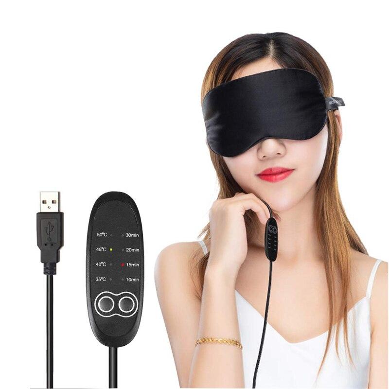 Beauty Star USB Heating Steam Eye Mask Eyeshade Anti Dark Circle Patch Eye Massager Fatigue Relief Sleep Eye Mask Eye Care Tool недорого