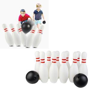 12Pcs Bowling Kids Skittles Set Skittles Game Bowling Ball Boule Game