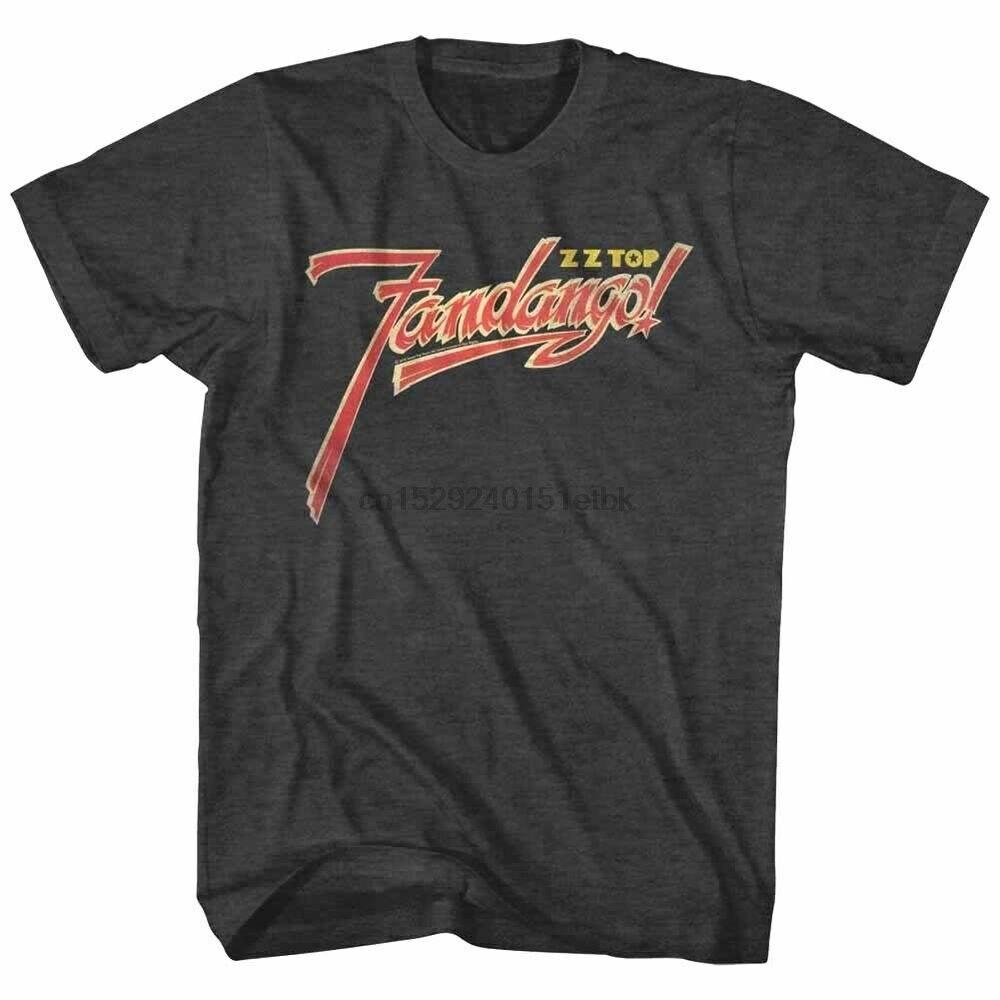 ZZ Top Fandango álbum Mens T camisa Logotipo de Metal Rock Banda de Música Tour Merch(1)