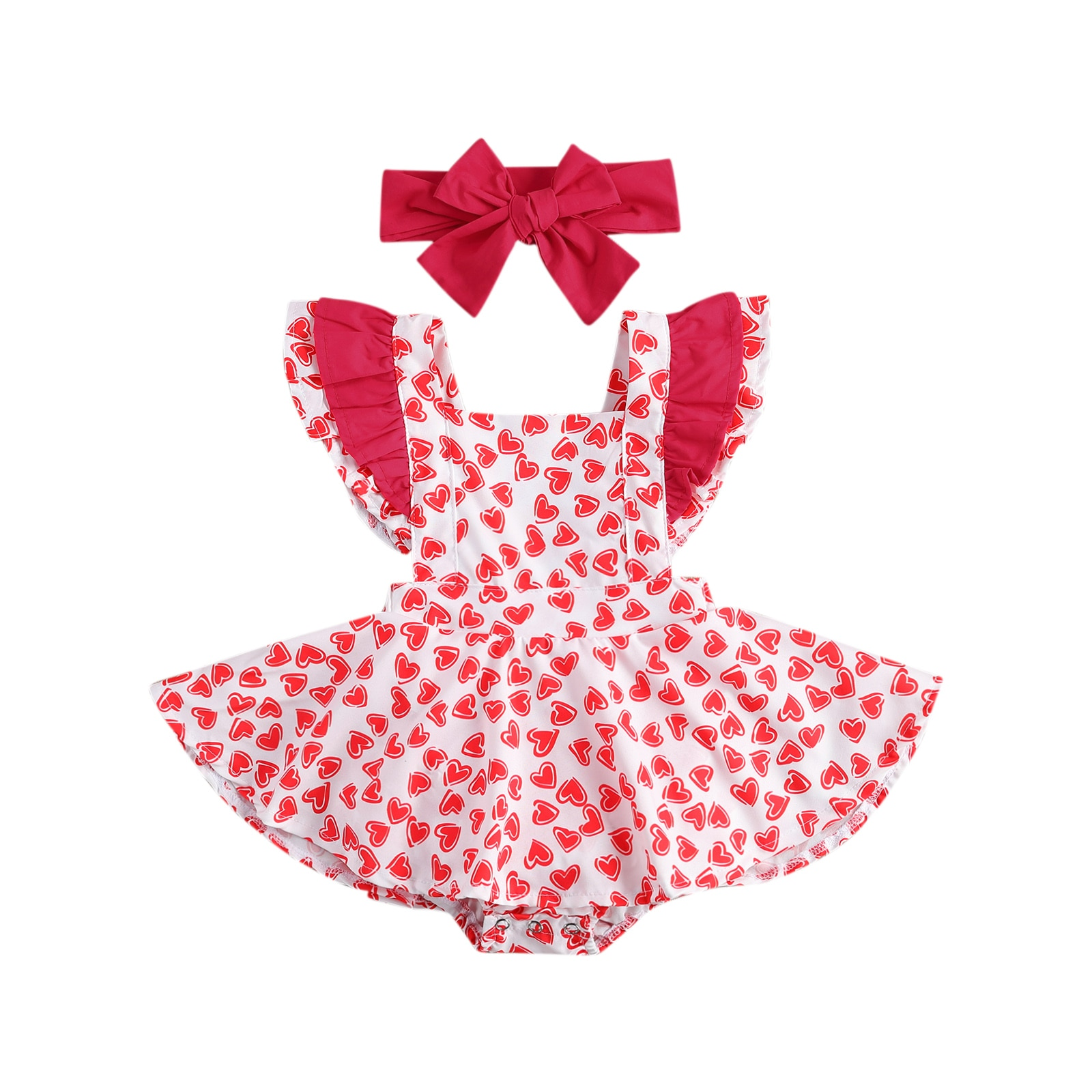 Toddler Baby Girls 2021 Valentine's Day Striped Print Tulle Dress+Hairband Outfit Princess Party Dress Infant Children Kids Suit girls rainbow print striped dress
