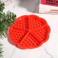 silicone waffle mold non stick round cooking chocolate cake mould makers kitchen waffle bakeware kitchen handmade baking tools