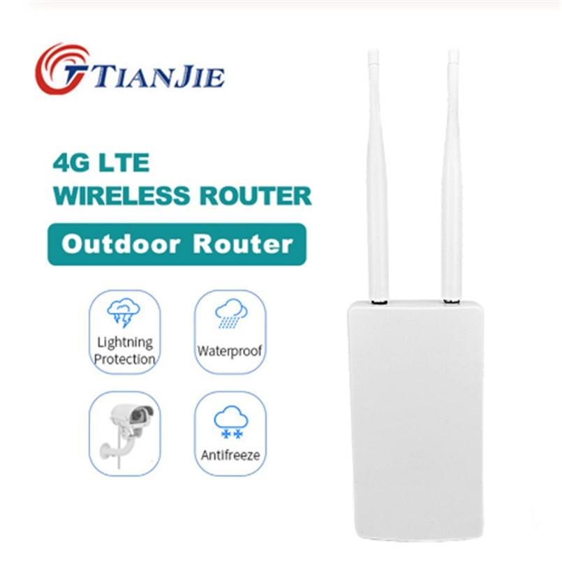 AliExpress - TIANJIE Outdoor 4G/LTE WiFi Router Wireless WAN/LAN Port Wifi AP Sim Card Slot wifi Hotspot Waterproof CPE Router Modem Dongle