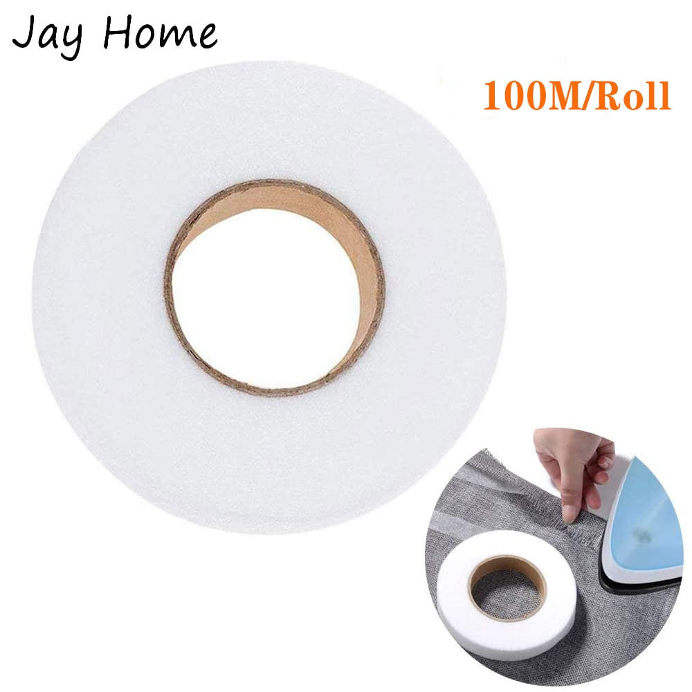 100M Single side Fabric Fusing Tape Iron on Tape Adhesive Hemming Tape for Pants Clothes Jeans DIY Garment Sewing Accessories