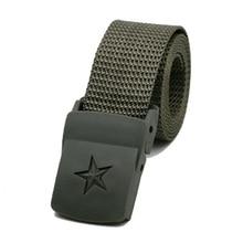Universal Unisex tactical belt Waist Belt Slim Smooth Automatic Buckled Nylon Belts Waistband For Outdoor sports Men Women