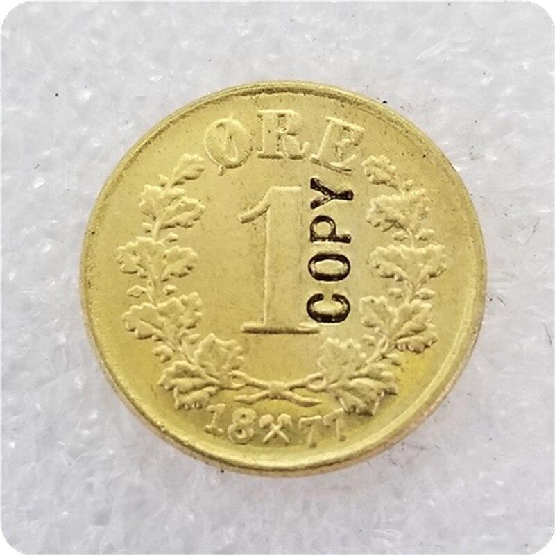 Копии монет 1 руда Норвегии, 1877,1878,1885 Безвалютные монеты      АлиЭкспресс