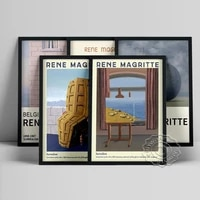 rene magritte surrealism exhibition museum poster la condition humaine canvas painting memory of a voyage art print wall decor