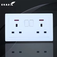 uk standard 13a wall switched power socket ac 100250v with led indicator light 146mm86mm electric double wall plug outlet