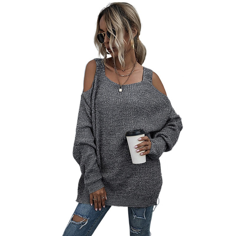 Off Shoulder Solid Knit Sweater Dresses For Women Casual Fashion Tops New enlarge