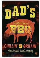dad bbq novelty parking retro metal tin sign plaque poster wall decor art shabby chic gift suitable 12x8 inch