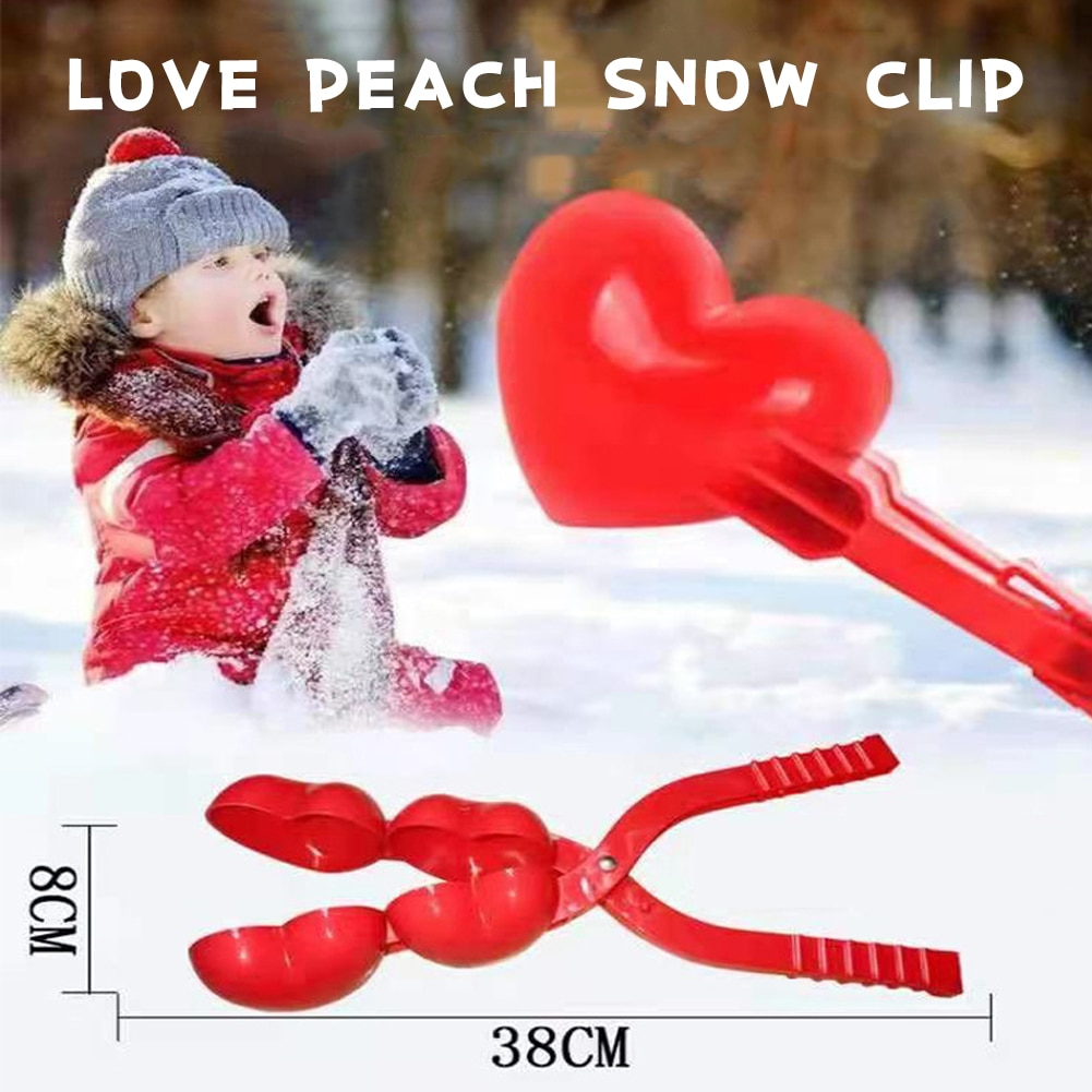 Heart-shaped Snowball Sled Snowball Maker Children's Winter Outdoor Toys Snowball Fight Artifact Snowball Sled Snow Toy Tool