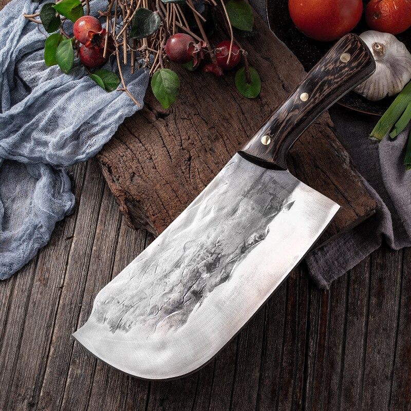 سكين تشون السميكة للتقطيع سكين مهني يدوي الصنع لشحذ العظام أدوات مطبخ الشيف عالية الكربون من الفولاذ المقاوم للصدأ