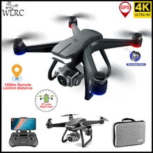 WLRC 2021 NEW F11 Pro Drone 4K Professional with HD Camera Distance 1200M 25mins Flight Brushless Mo