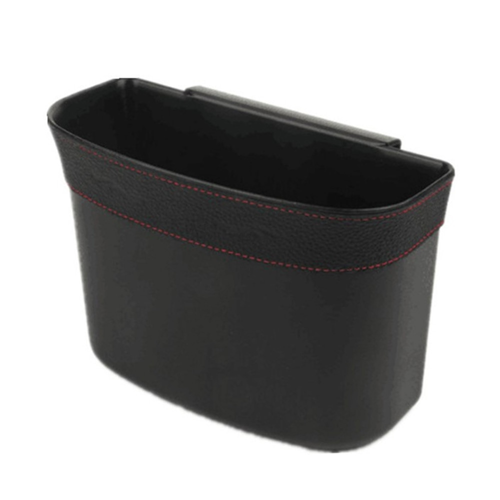 Storage Car Trash Can Replacement Accessories Seat Back Universal Interior Black ABS Plastic