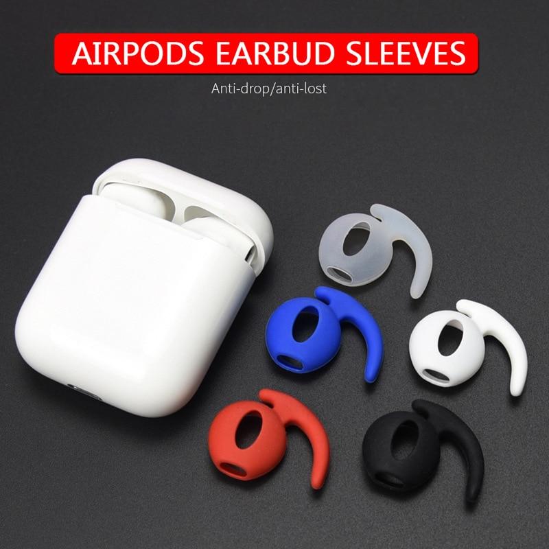 Мягкие силиконовые защитные противоскользящие наушники для AirPods, ушные крючки, держатели для наушников, чехол для AirPods, наушники