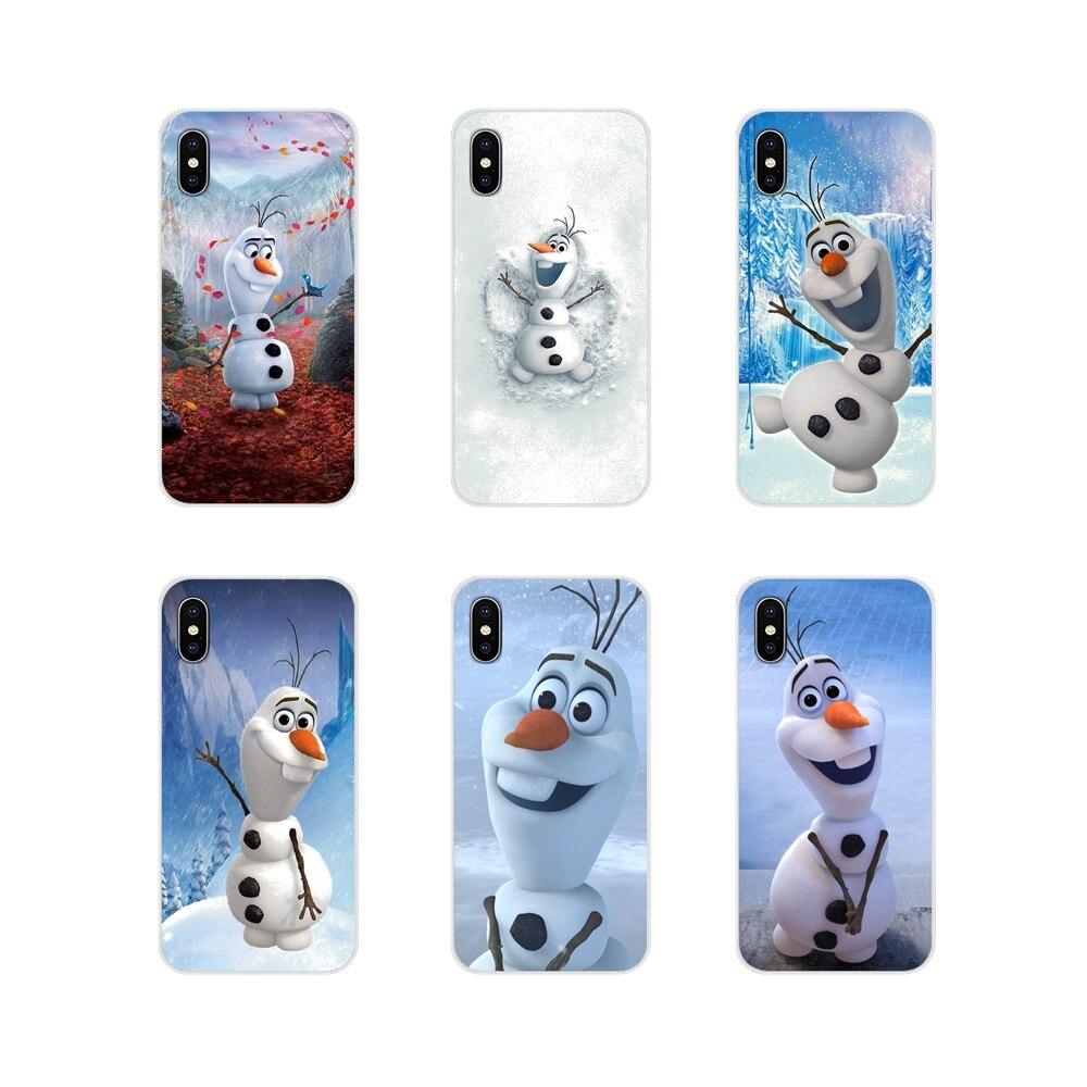 Accesorios de la cáscara del teléfono para Samsung A10 A30 A40 A50 A60 A70 M30 Galaxy nota 2 3 4 5 8 9 10 más lindo de la olaf, hombre de nieve