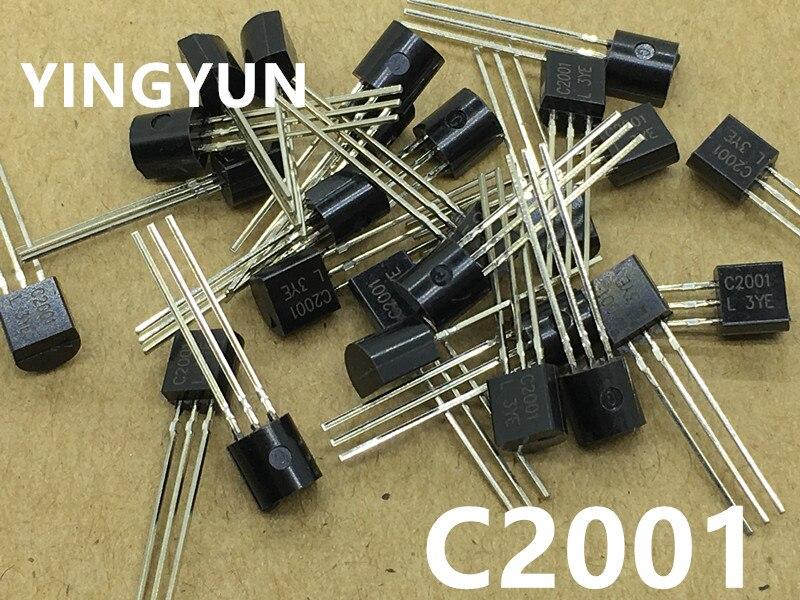 50pcs/lot   C2001 2SC2001 0.7A 25V NPN TO-92 New original