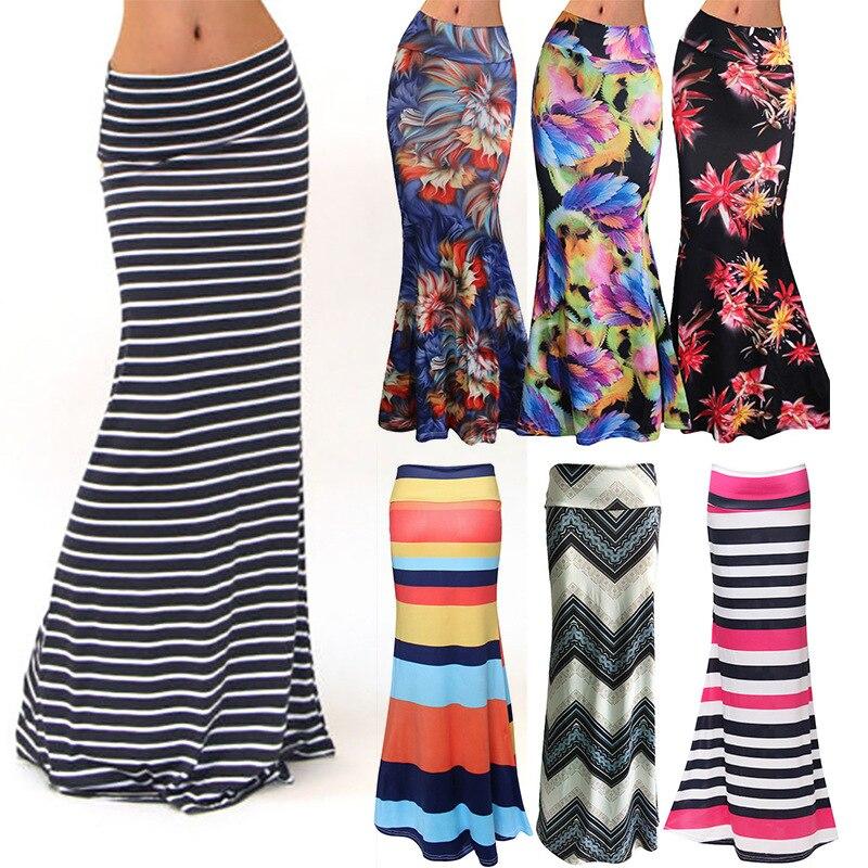 S-3XL primavera elástico cintura alta falda de lápiz largo Para las mujeres 2020 lápiz falda Maxi Faldas Largas Mujer Para Fiesta