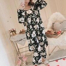 3Pcs/set Pajamas Set for Women Pijamas Mujer Ladies Sexy Pyjamas Sleepwear Women Pajama Sets Sleep L