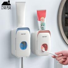 Porte-brosse à dents automatique   Distributeur de dentifrice, porte-brosse à dents, support mural, presse-dentifrice, accessoires de salle de bain, étagère de rangement