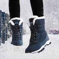 women boots non slip waterproof winter ankle snow boots women platform winter shoes with thick fur botas mujer free shipping