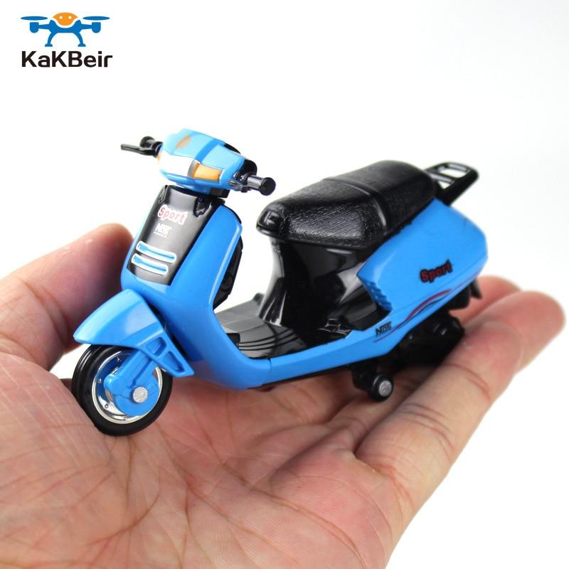 Motocicleta Mini modelo KaKBeir 118 de bolsillo fundido a presión, bicicleta de montaña de juguete portátil, vehículo de simulación de colección, juguetes para niños