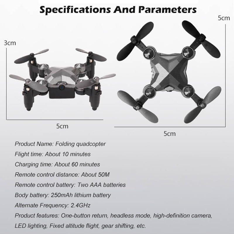 DH-800 Foldable Mini Quadcopter Gravity Sensing Flying Drone 360 Degree Rotating Aerobatics Watch Design Remote Control Aircraft enlarge