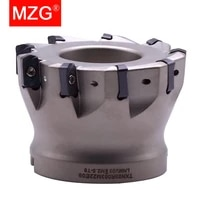 mzg exn03r 50 63 mm cnc fast feeding lathe machining alloy end mill lnmu double side carbide insert milling cutter
