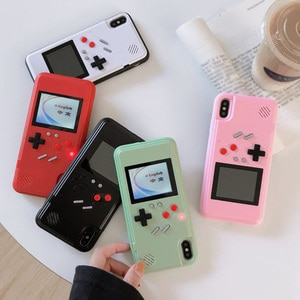 Image 1 - Игровой чехол Tetris Gameboy для iphone 12, 11 Pro Max, 7, 8, 6, 6S Plus, Ретро Чехол для консоли Game Boy для iphone XS, Max, XR, X, SE, чехол