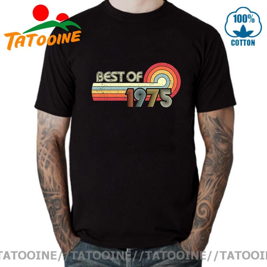 Camiseta Tatooine Retro The 1975, ropa Vintage, lo mejor de 1975, camiseta de 45 años de edad, camiseta nacida en 1975, camiseta de regalo de cumpleaños 45 °