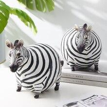 Figuritas de cebra en miniatura de resina, accesorios de decoración del hogar, decoración moderna de escritorio para habitación, modelo de Animal, decoración de regalo de Navidad