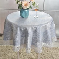 tablecloth fabric exquisite modern small round table decor blue tablecloth coffee table cover for balcony table towel for garden
