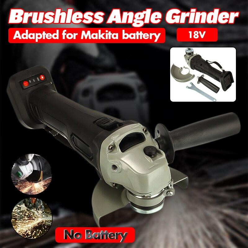 125 мм бесщеточный беспроводной ударный угловой шлифовальный станок, набор инструментов для Makita батареи, шлифовальный станок, угловая отдел...